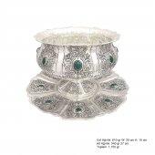 Lale Motifli Gümüş Boller