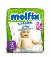 Molfix Bebek Bakım Örtüsü 10 Adet 60 X 60 Cm