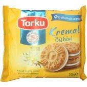 Torku Kremalı Sandviç Bisküvi 4 Adet Ekonımik Paket 300 Gr