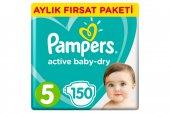Prima Bebek Bezi Aktif Bebek 5 Beden Junior Aylık Paket 150 Adet