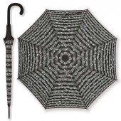Notalı Baston Şemsiye Siyah