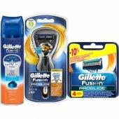 Gillette Fusion Proglide Flexball Tıraş Paketi(Tıraş Makinesi + 4lü Bıçak + Jel)
