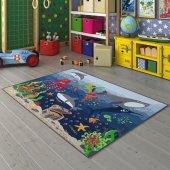 Confetti 133x190 Deep Water Çocuk Bebek Anaokulu Oyun Oda Halısı