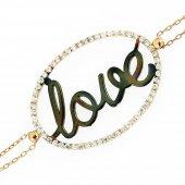 Gümüş Love Bileklik