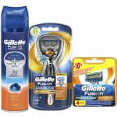 Gillette Fusion Proglide Flexball Power Tıraş Paketi(Tıraş Makinesi + 4lü Bıçak + Jel)