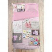 Cemeteks Firuze 3d 100 Pamuk Bebek Nevresim Takımı (Pink Love)