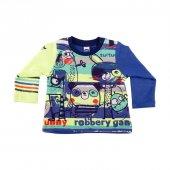 Desenli Uzun Kollu T Shirt, Funny Robbery Saks Desenli