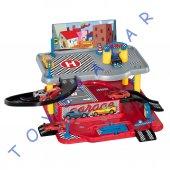 Erkek Çocuklar İçin 2 Katlı Otopark Seti Oyuncak Araba Garaj Set
