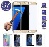 Samsung Galaxy S7 Edge 3d Kavisli Ekranı Tam Kaplar Kırılmaz Cam