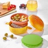 Hamburger Görünümlü Beslenme Ve Saklama Kabı Seti