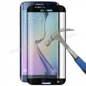 Samsung Galaxy S6 3d Full Kapatan Kırılmaz Cam Ekran Koruyucu Siyah