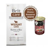 Brit Care Tavşanlı Pirinçli Kilo Dengeleyici Köpek Maması 3 Kg