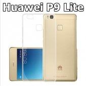 Huawei Ascend P9 Lite Şeffaf Esnek Silikon Kılıf