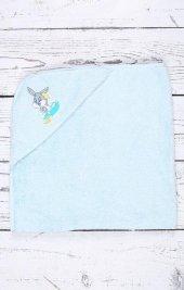 özdilek Bugs Bunny Nakışlı Bambu Bebek Yenidoğan Havlusu Mavi