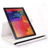 Samsung Tab 4 T530 10.1 360 Derece Dönen Standlı Kılıf Beyaz