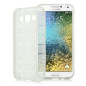 Galaxy E7 Plaid Tpu Arka Kapak Şeffaf