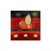 Redly Life 4 Parça Kanvas Tablo 70x70 Cm
