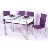 Evform Yemek Masa Takımı Açılır Masa Masa Sandalye Takımları Mutf