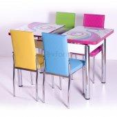 Mutfak Masa Takımı Masa Sandalye Açılır Kelebek Yemek Masasi