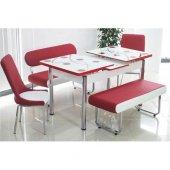 Mutfak Masa Sandalye Bank Takımı Camlı Açılır