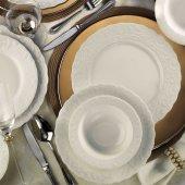 Kütahya Porselen Bone Basak 24 Parça Yemek Seti