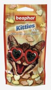 Beaphar Kitties Mix Balik Ve Peynirli Kedi Ödülü 32,5 Gr