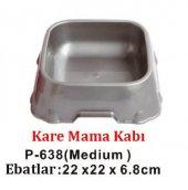 Percell Plastik Kare Köpek Mama Kabı M