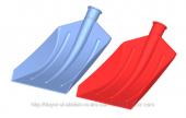 Duyar Profesyonel Plastik Kar Küreği 54x31cm Kırmızı
