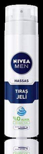 Nivea For Men Sensitive Hassas Ciltler İçin Tıraş Jeli 200 Ml