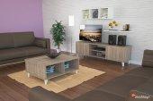 Ardino Cordoba Tv Sehpası+orta Sehpa+ Duvar Rafı+ Kitaplık