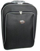 Mars Orta Boy Su Geçirmez Siyah Valiz Bavul