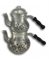 Kalın Eskitme Küçük Armut Bakır Çaydanlık