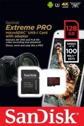 Sandisk Extreme Pro 128gb Micro Sd Hafıza Kartı Sdsqxcg 128g Gn6m