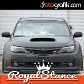 Otografik Royal Stance Ön Cam Oto Sticker