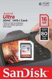 Sandisk 16gb Sd Hafıza Kartı Ultra Uhs I C10 80mb S