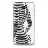 Samsung A7 2016 Kılıf Vücut İlizyonu Desenli Kılıf
