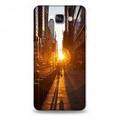 Samsung A9 Kılıf New York Gündoğumu Desenli Kılıf