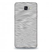 Samsung A9 Kılıf Siyah Dalga Desenli Kılıf