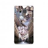 Samsung Alpha Kılıf Evler Ve Gökdelenler Desenli Kılıf