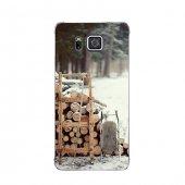 Samsung Alpha Kılıf Kesilmiş Odunlar Desenli Kılıf