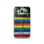 Samsung Core Prime Kılıf Renkli Merdivenler Desenli Kılıf