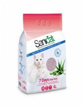 Sanicat 7 Days Aloe Vera Emici Kedi Kumu 4 Lt