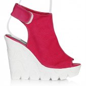 Uk Polo Club P64707 Kadın Topuklu Sandalet Fuşya