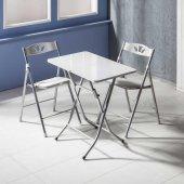 Vural Katlanır Kırma Masa Sandalye Takımı 50x80