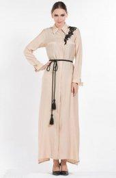 Tesettur7 Senna Design Summer Gömlek Elbise 3607 Bej
