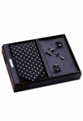 Kravat, Kol Düğmesi, Yaka İğnesi Özel Kombin Erkek Hediye Seti Kı