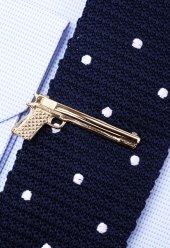 Silah Gold Kravat İğnesi Kıy09