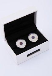 Gümüş Rengi Çelik Kol Düğmesi Kd85