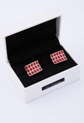 Kırmızı Çelik Kol Düğmesi Kd61