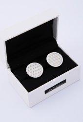 Beyaz Çelik Kol Düğmesi Kd54